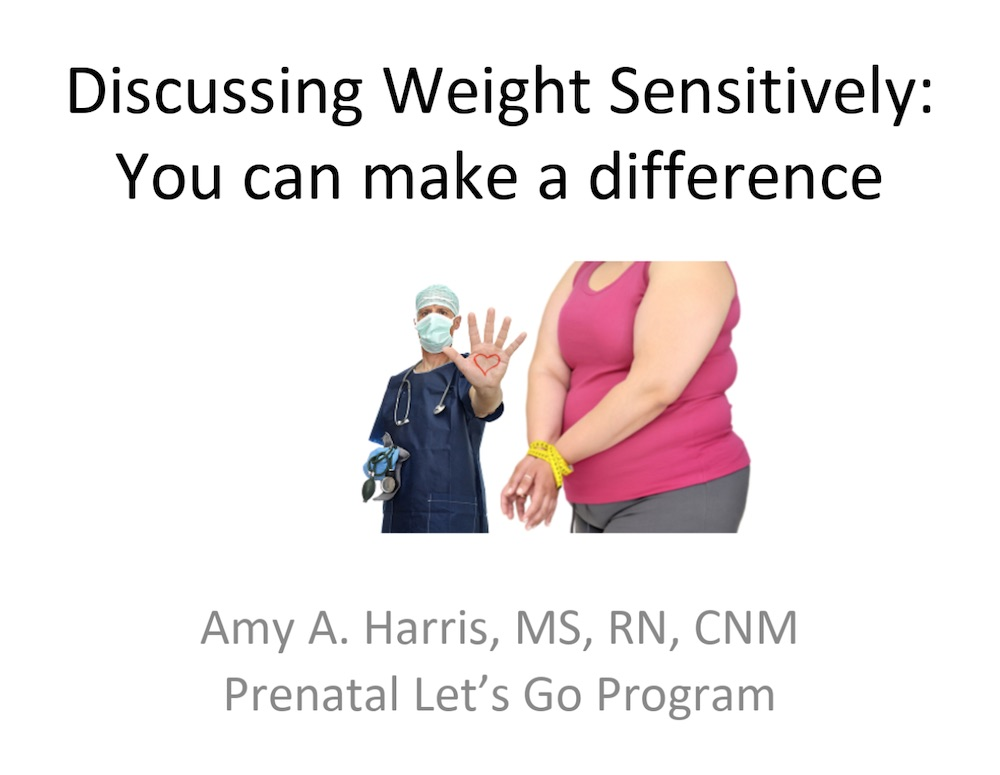Let's Go_Discussing Weight Sensitively